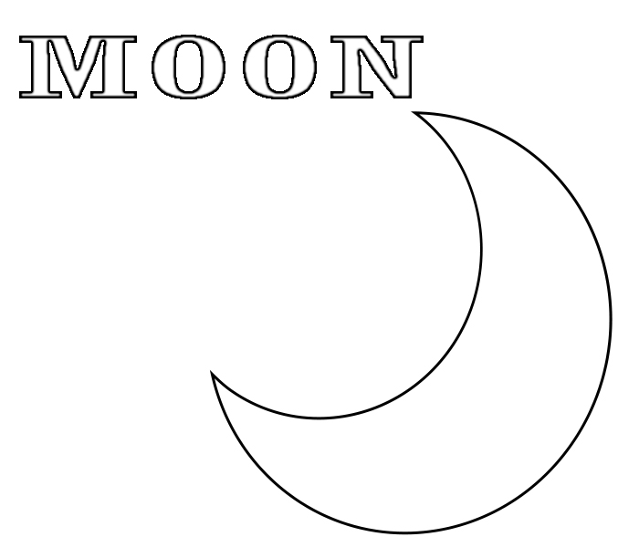 Moon Coloring Pages for kindergarten
