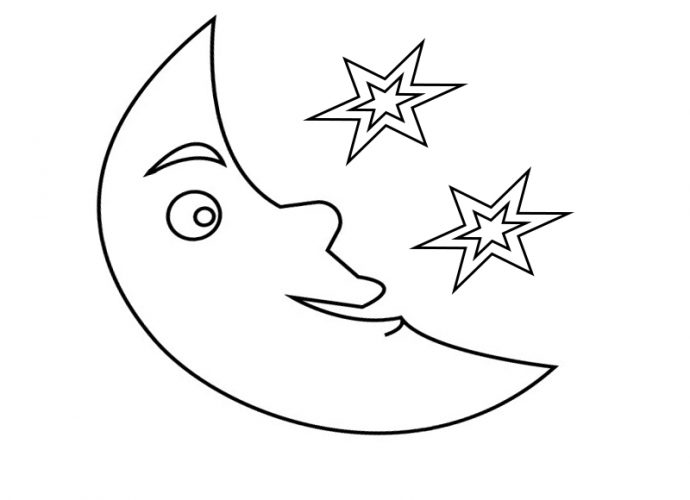 Moon Coloring Pages to Print