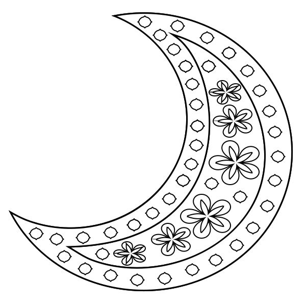 Moon Colouring Pages for Adults