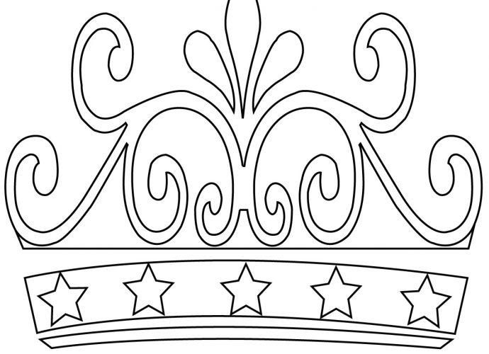 Princess Crown Coloring Pages