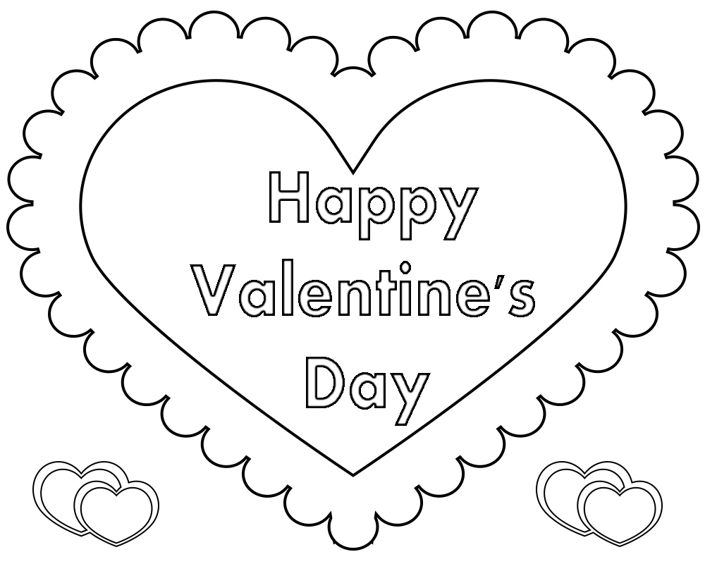 Printable Colouring Pages Valentines Day