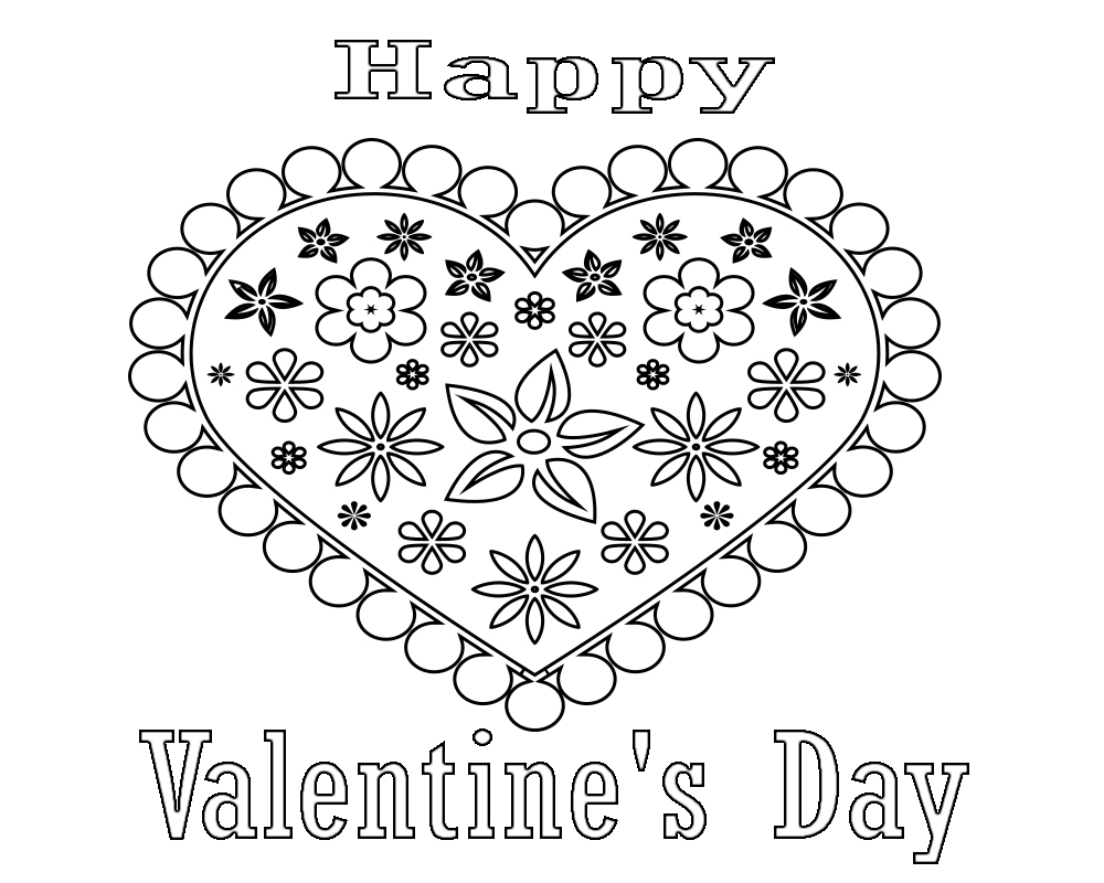 Printable Valentines Day Coloring Pages for Adults
