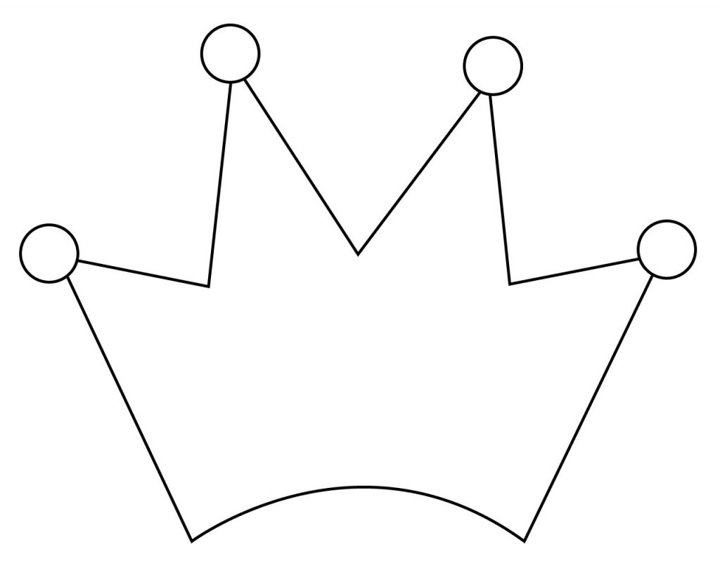 Simple Crown Coloring Pages