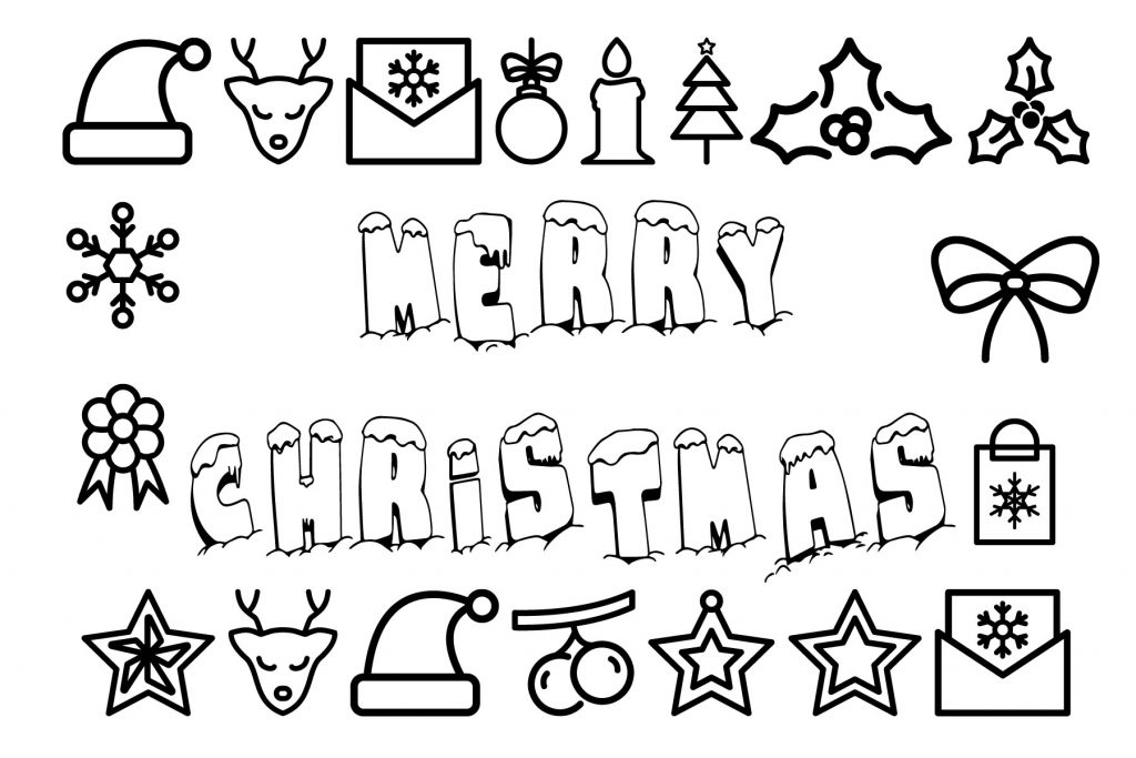 Christmas colouring pages free