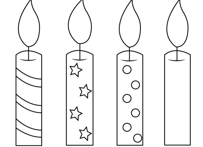 Birthday Candle Coloring Page
