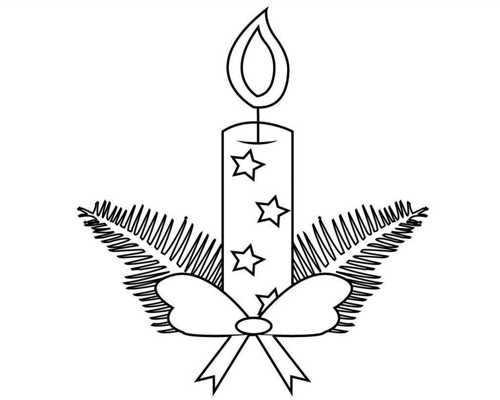 Candle Coloring Page Free