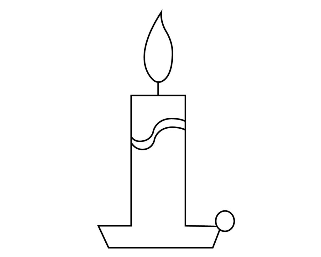 Candle Coloring Page For Your Little