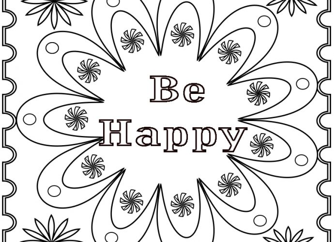 Coloring Pages for Adults Positive Quotes