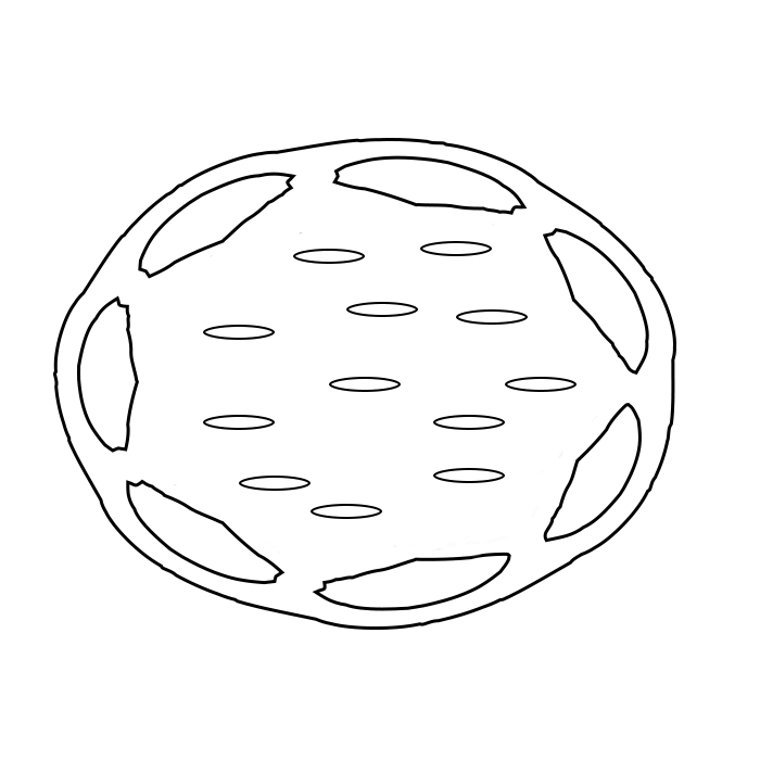 Donut Coloring Page