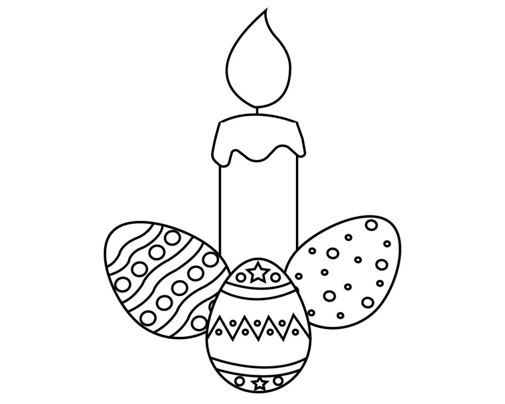 Easter Candle Coloring Page
