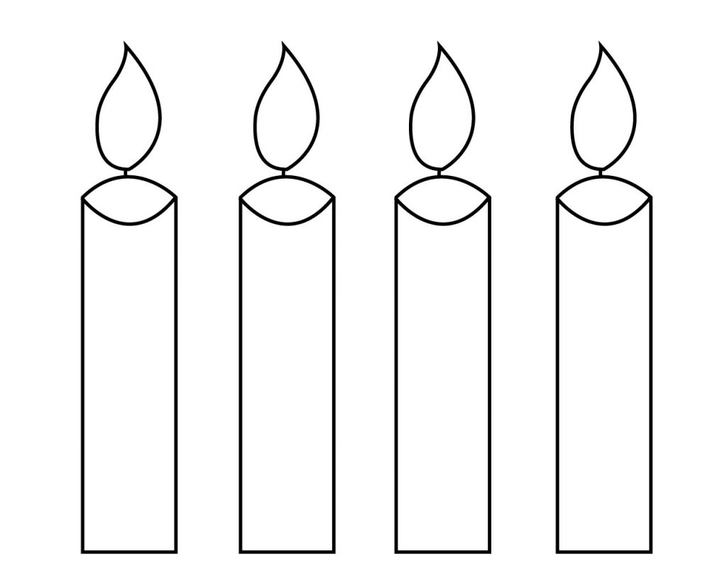 photograph relating to Printable Candles known as Candle Coloring Website page For Your Small Kinds: Birthday