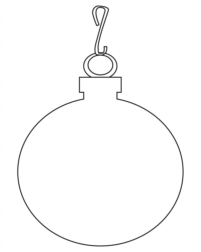 simple christmas ornament coloring pages - photo#40