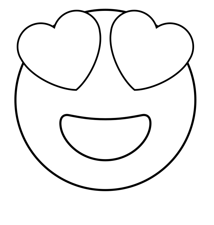 Printable emojis coloring pages ~ Free Printable Emoji Coloring Pages For Kids, Heart and ...