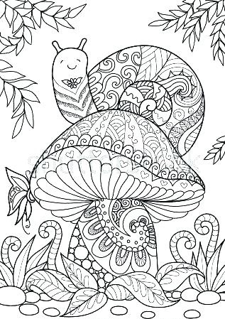 Mushroom Coloring Pages For Adults
