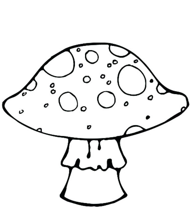 Mushroom Coloring Pages Printable