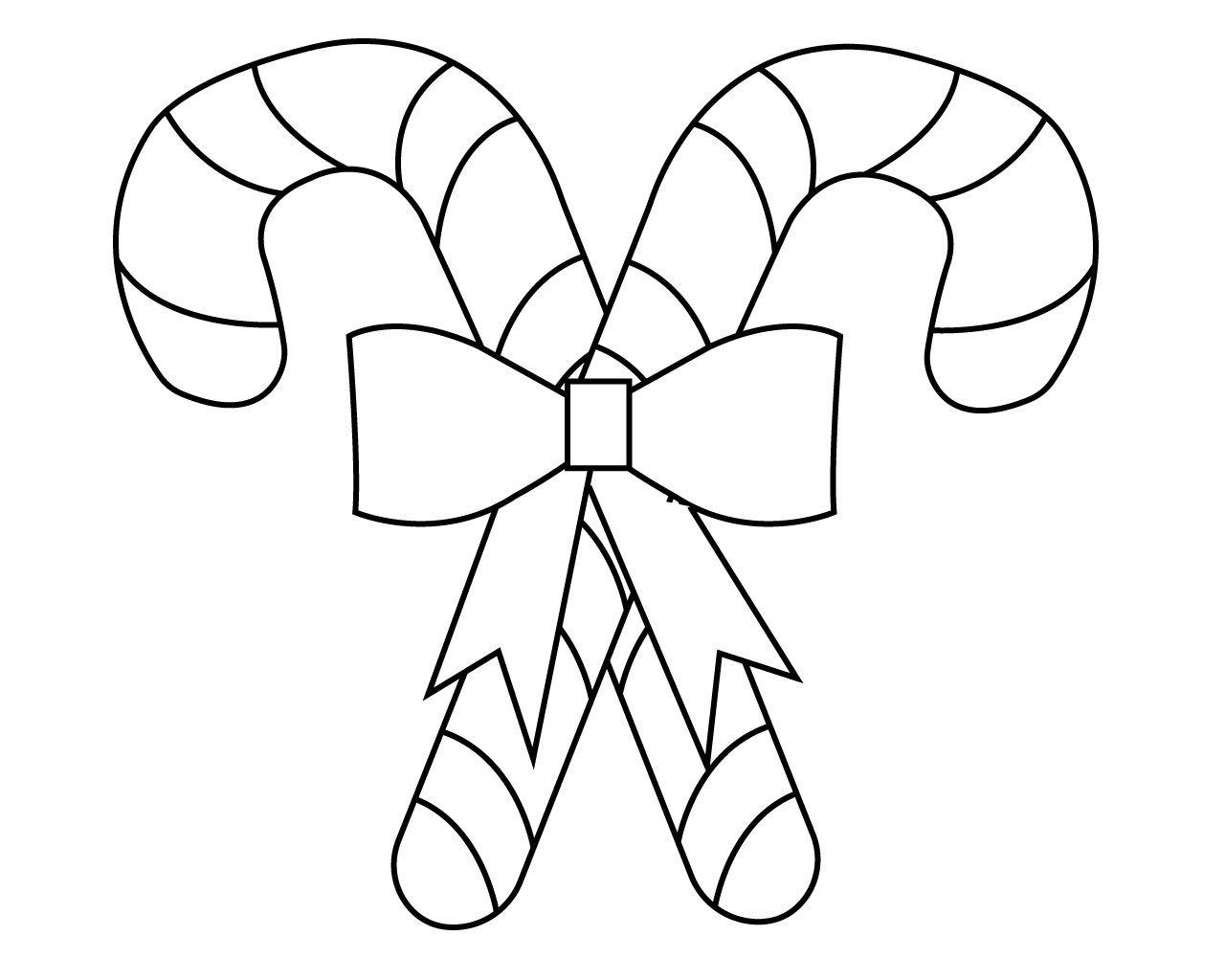 Candy Cane Coloring Pages For Kids
