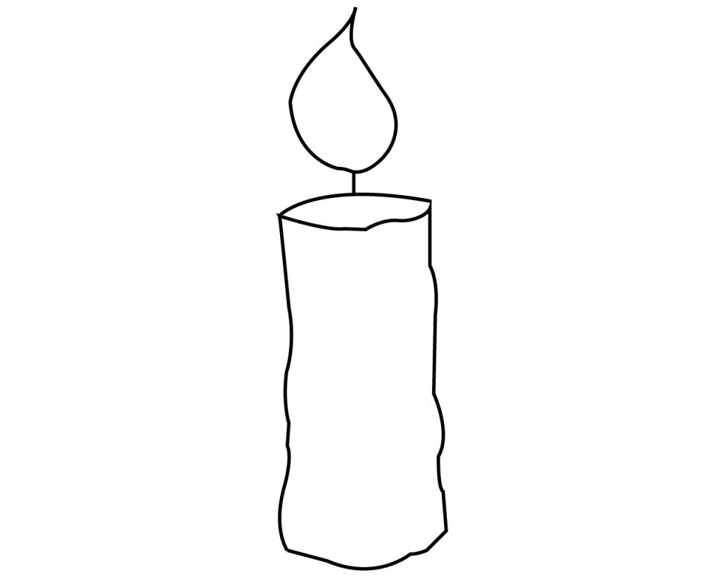 Simple Candle Coloring Pages