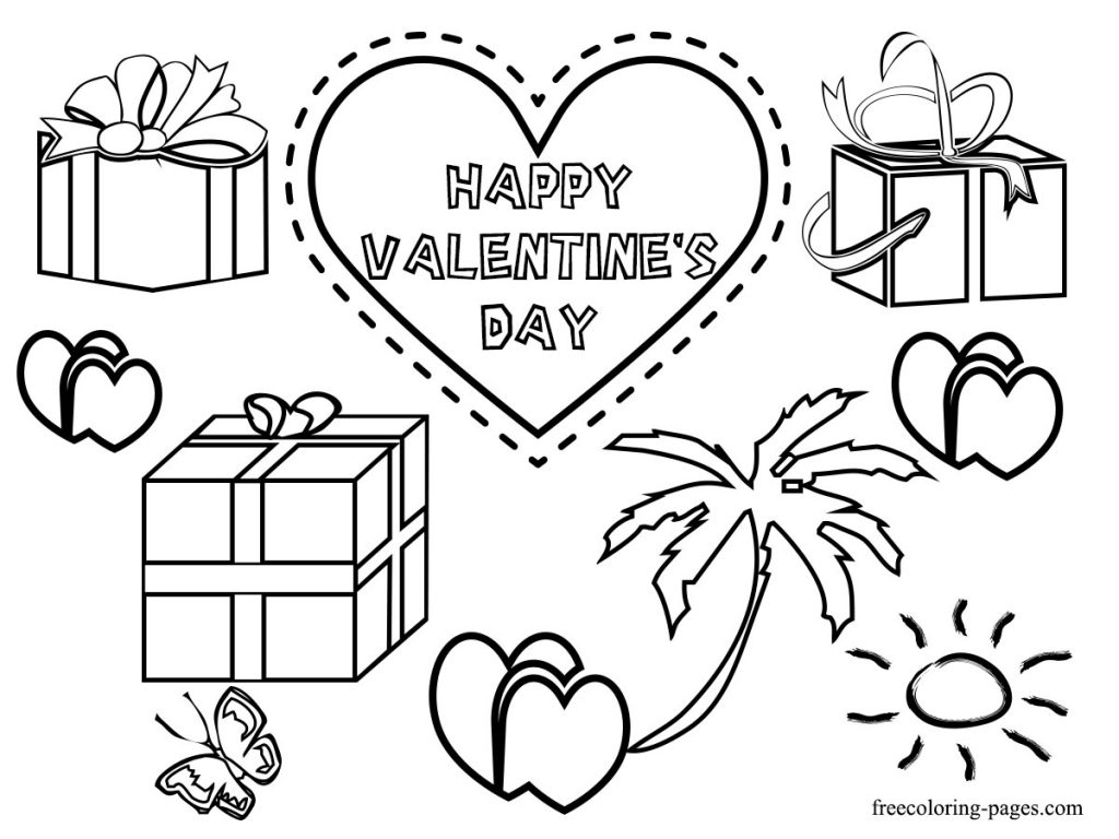 763 Valentine\'s Day Cards, Sheets, Coloring Pages
