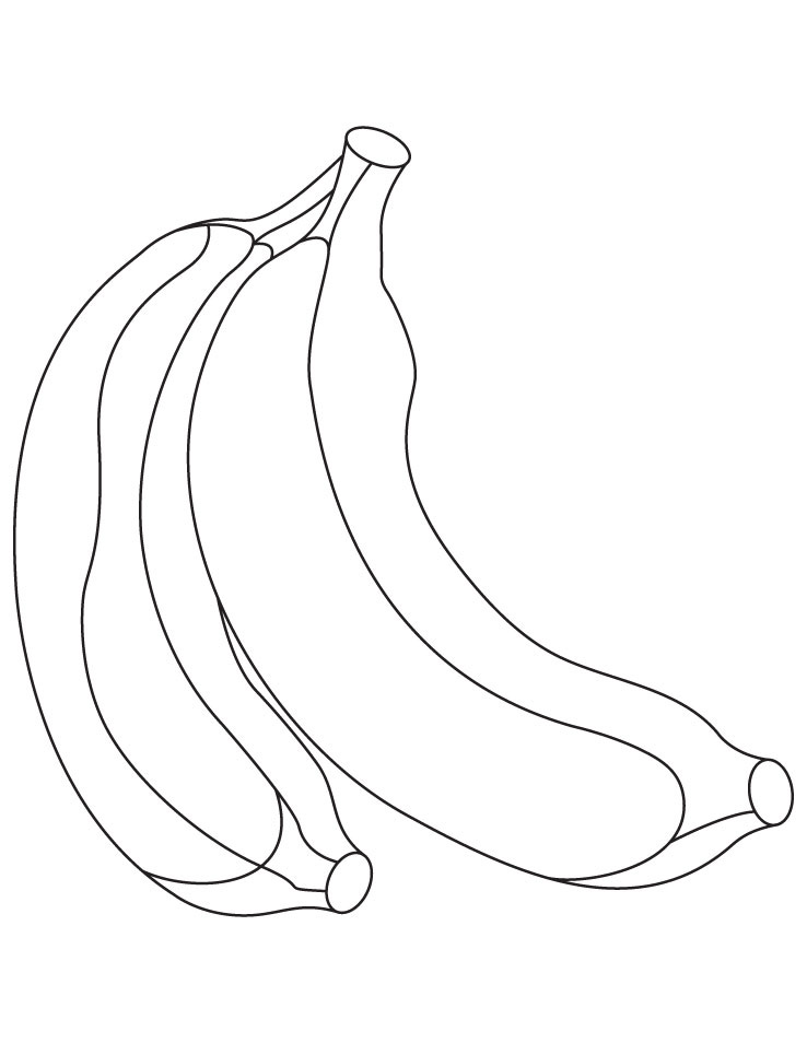 Banana Coloring Pages To Print