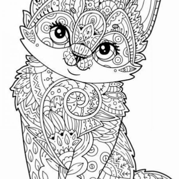 Free Printable Animal Coloring Pages For Adults Owl Mandala Cat Easy