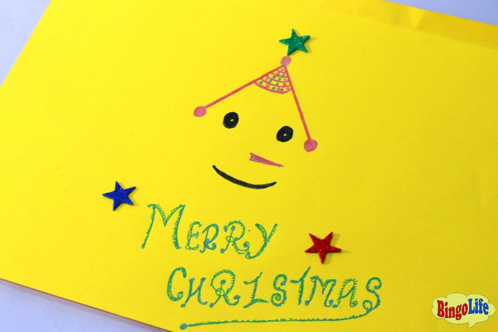 Merry Christmas cards for kids to make