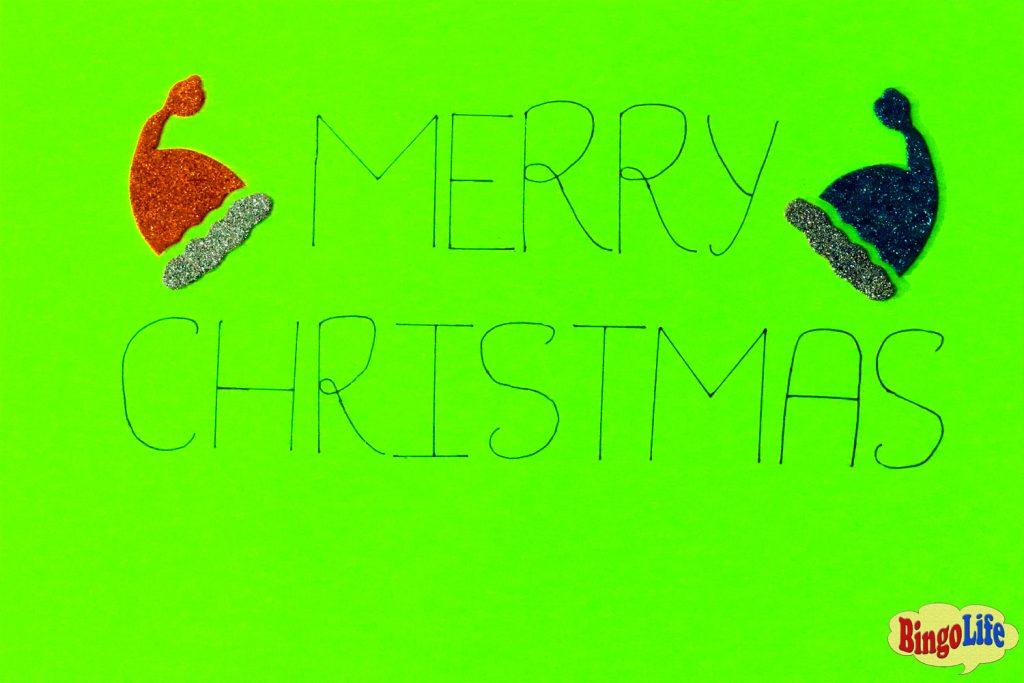 Merry Christmas cards kindergarten