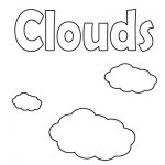 letter C Coloring Pages with clouds