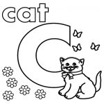 letter C stands for C Cat Coloring Pages